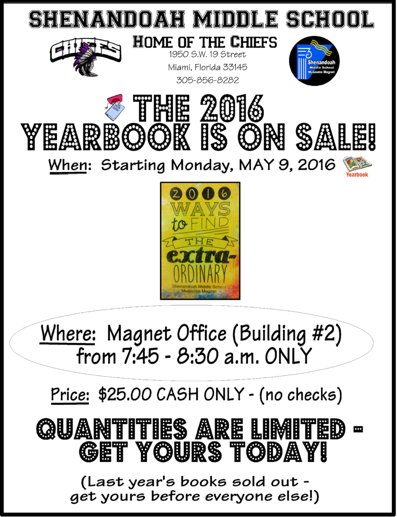2016 Yearbook Flyer