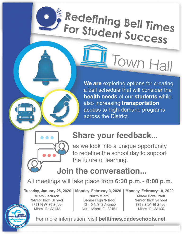 ell Schedule Town Hall Flyer